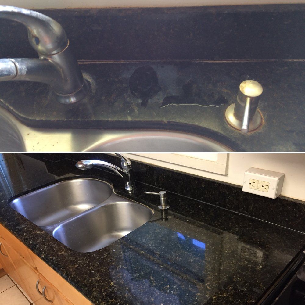 Granite Counter Before & After