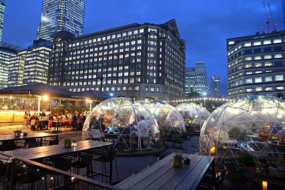 The Sipping Room Igloos At Night.jpg