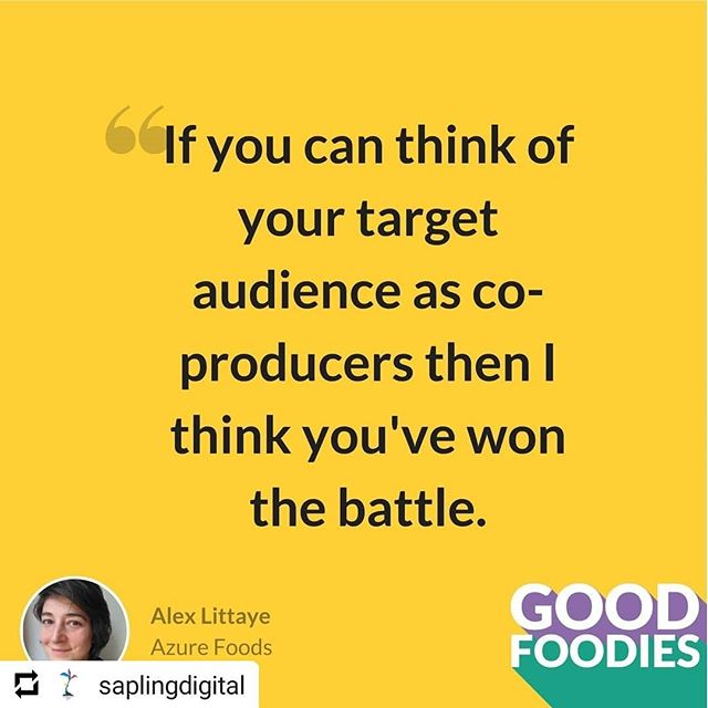 #Repost @saplingdigital • • • Really great way to look at things. Quote from Alex Littaye from @AzureFood from our Good Foodies podcast Episode 11 'Crowdfunding on a budget'! Link in bio! ⠀⠀ .⠀⠀ .⠀⠀ .⠀⠀ .⠀⠀ .⠀⠀ #futureoffood #foodinnovation #foodbusiness #foodindustry #foodbiz #podcastinterview #foodpodcast #branding #marketing #foodstartup #startup #entrepeneur #foodbusinessstartup #goodfood #businesspodcast #branding #brandbuilding #marketresearch #packaging #selling #azurefood