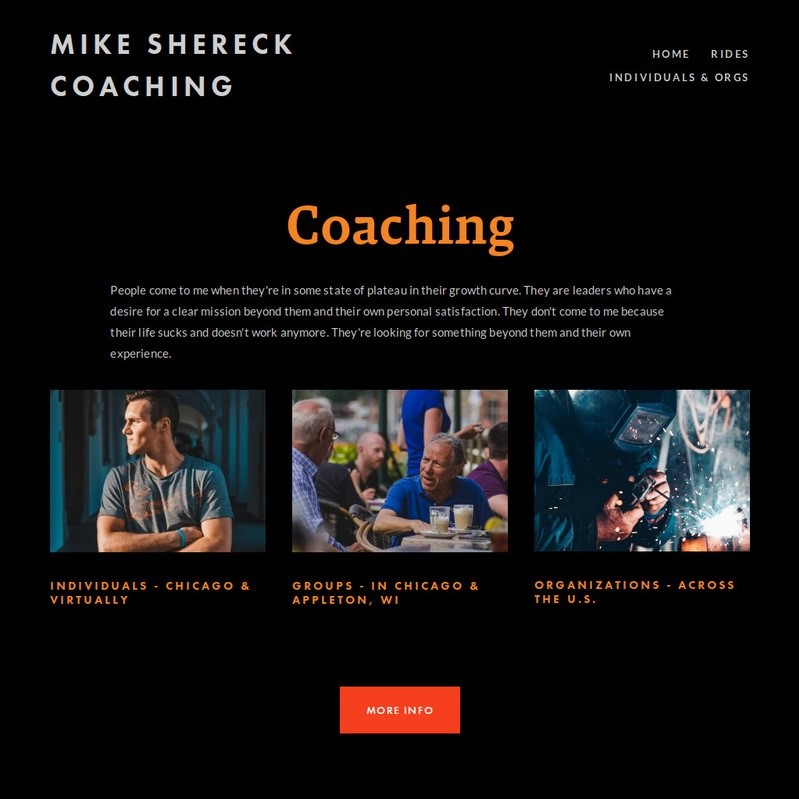 Mike's Services Page After