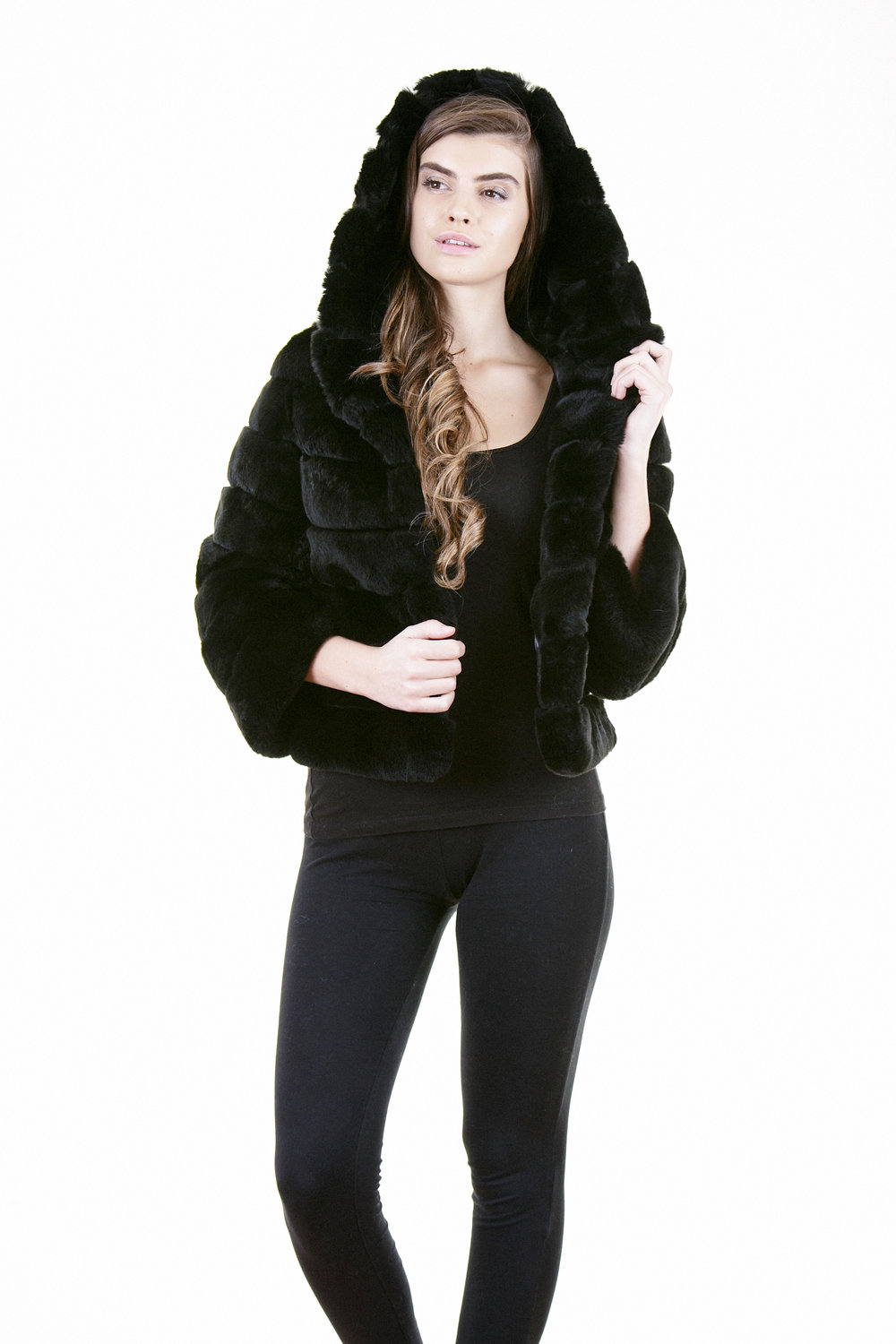 HOODED NAYA BLACK HOOD-UP-1.jpg