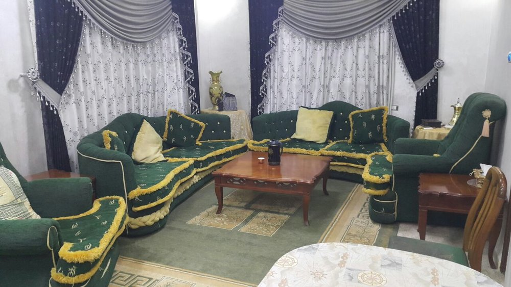 The formal living room, the so-called maḍāfa