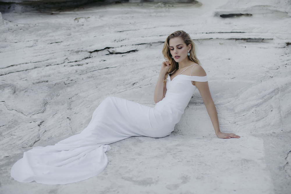 Tyler wedding dress by Jackson and Grace with creative direction by LOVE FIND CO. Creative Studio