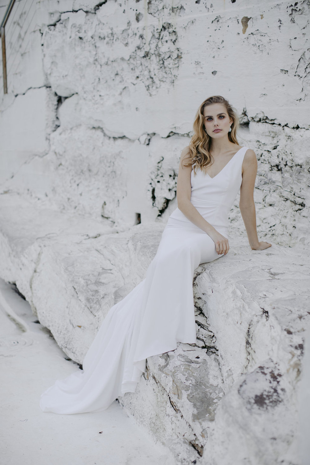 Bowery wedding dress by Jackson and Grace with creative direction by LOVE FIND CO. Creative Studio
