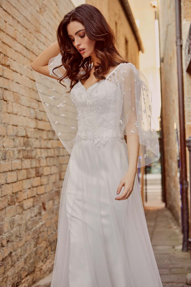 The Piper wedding dress from the Moira Hughes Lovestruck Collection with creative direction by LFC Creative Studio