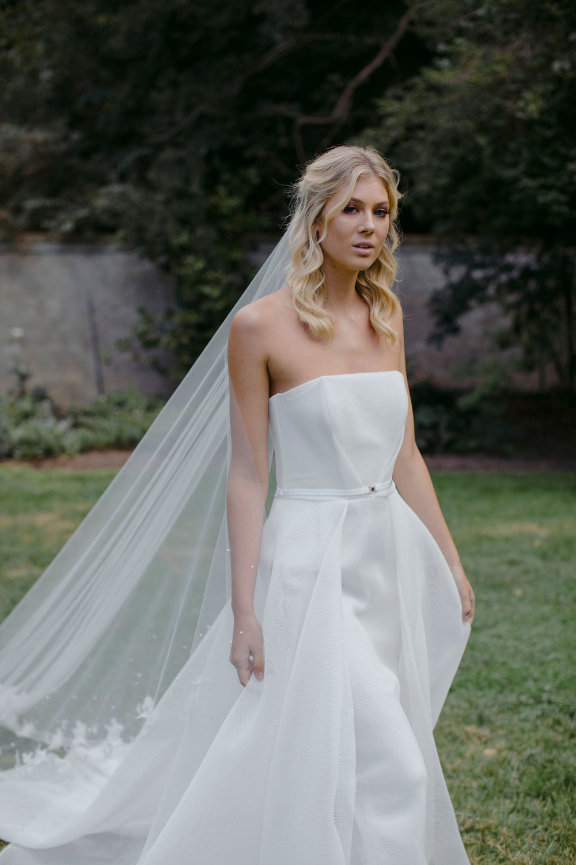 WISTERIA | BLUSH WEDDING HEADPIECE & NIGHT GARDEN | FLORAL CATHEDRAL WEDDING VEIL by TANIA MARAS