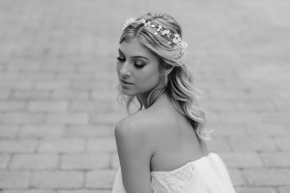 ANA ROSA | FLORAL WEDDING HEADPIECE by TANIA MARAS