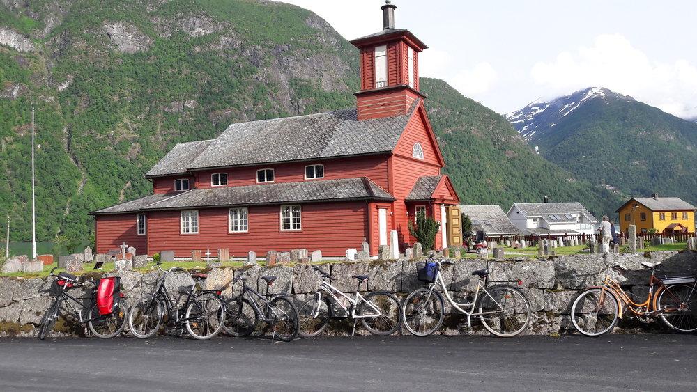 Biking in Mundal (Norwegian Book Town)