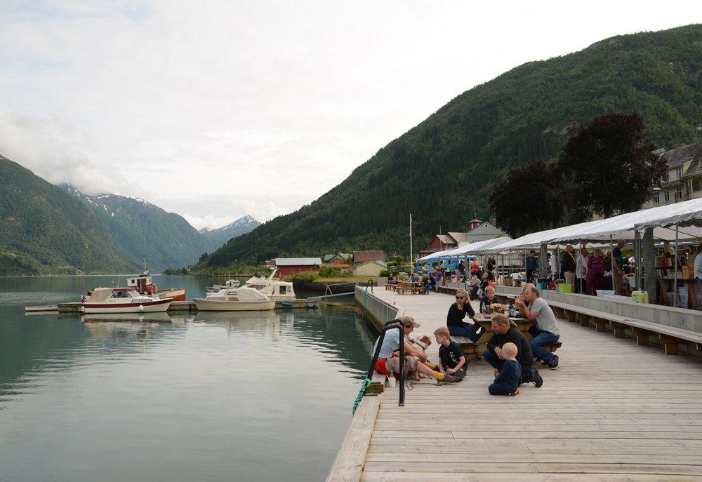 The dock in Mundal Photo: Claudia Neubert