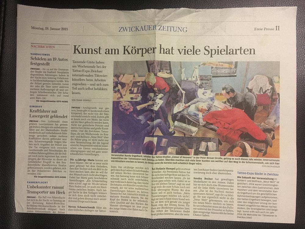 Newspaper, Zwickau, Germany