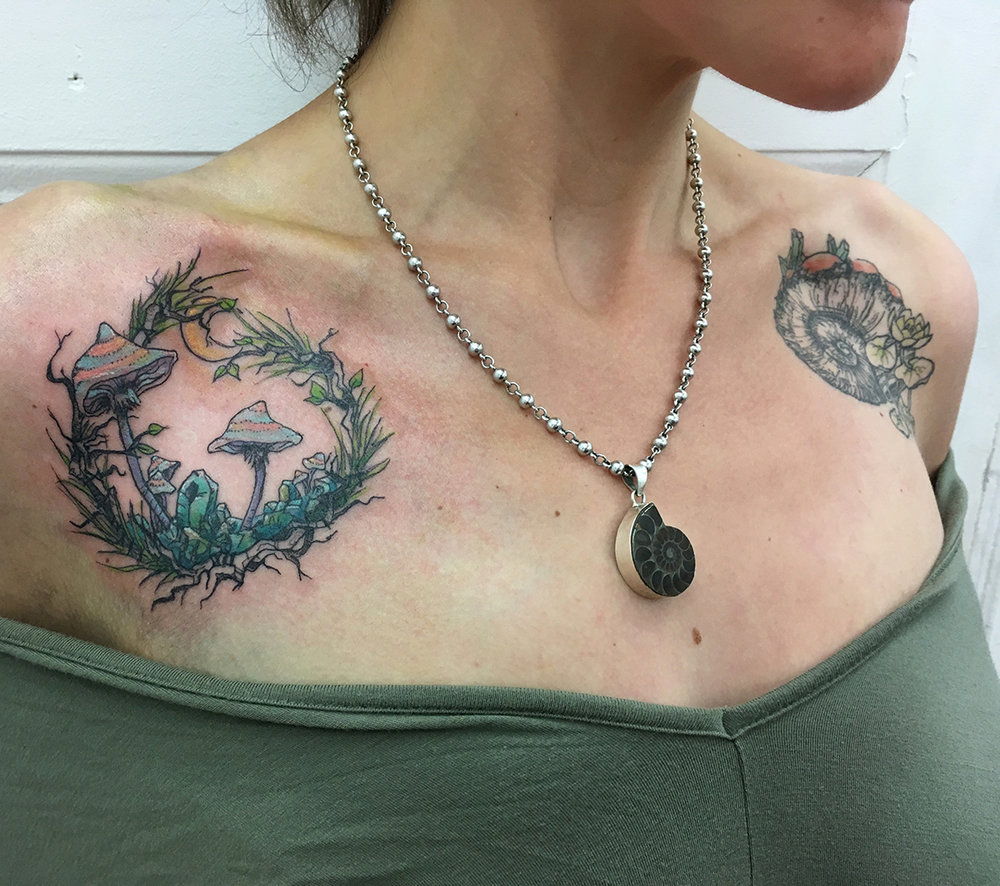illustration nature crytal mushroom tattoo truevagabondtattoo berlin.jpg