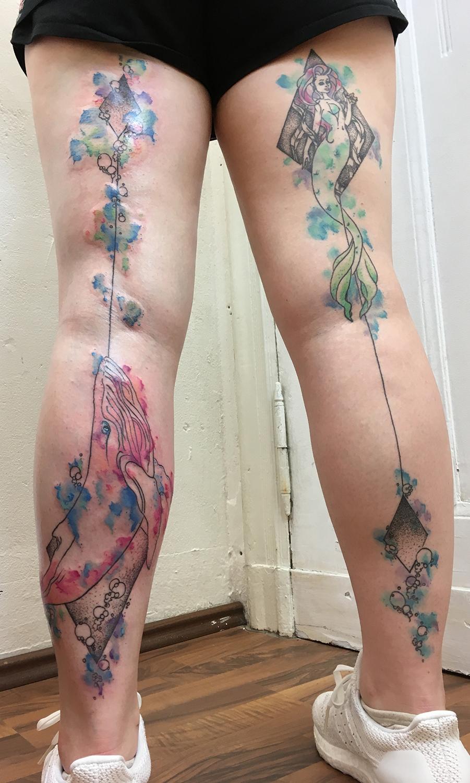 stocking tattoo mermaid ocean watercolor dotwork truevagabondtattoo berlin.jpg