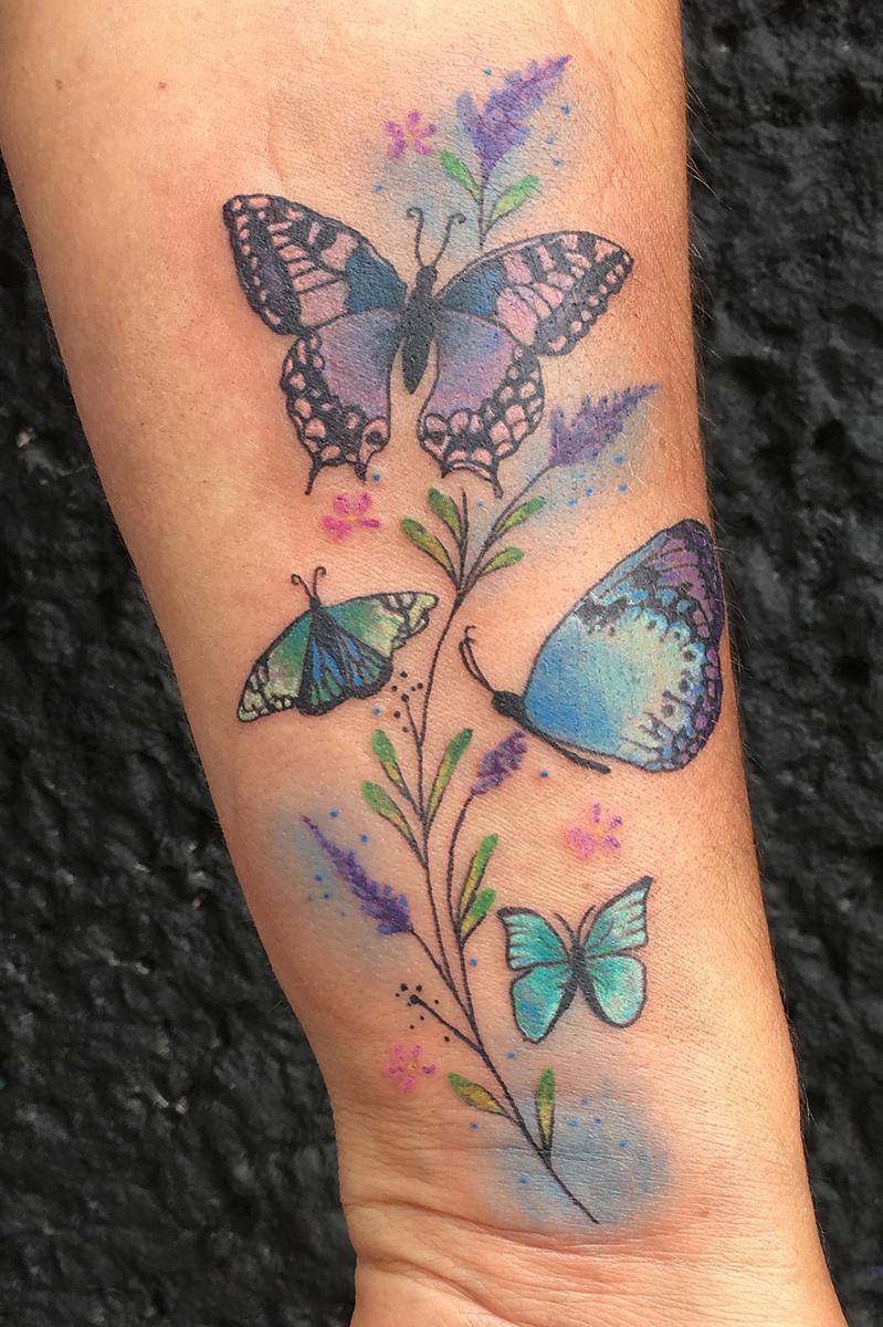 family tattoo color butterfly truevagabondtattoo.jpg