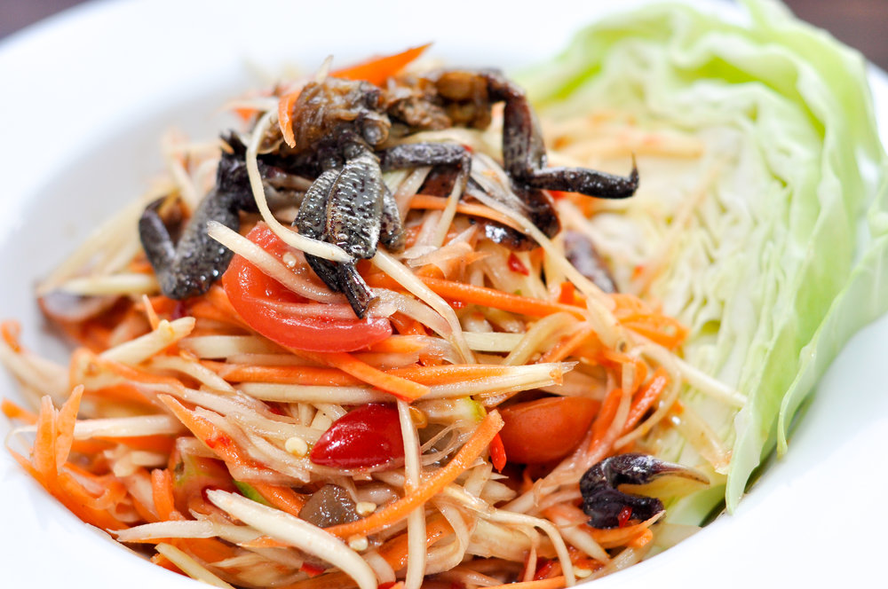Tum Mark Hoong - Papaya Salad, Lao Style