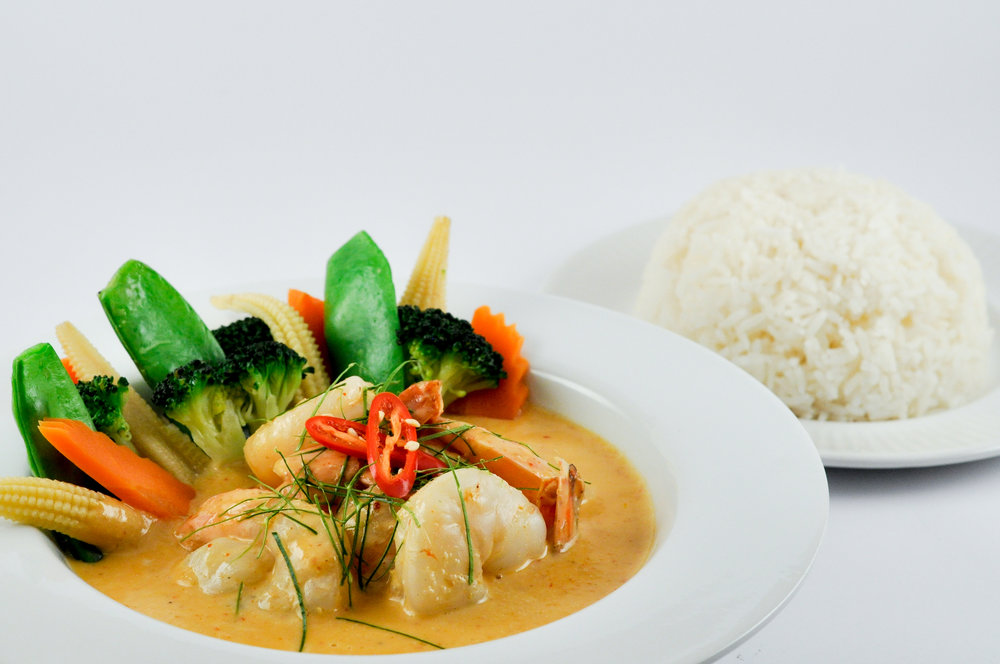 Panang Curry Prawn or Fish