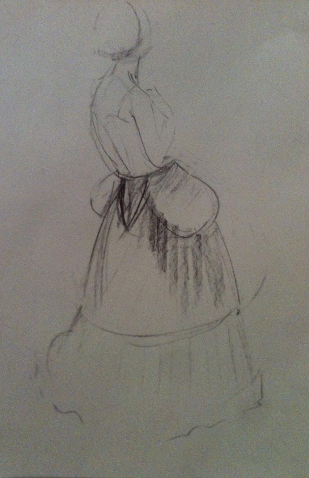 Girl in a petticoat