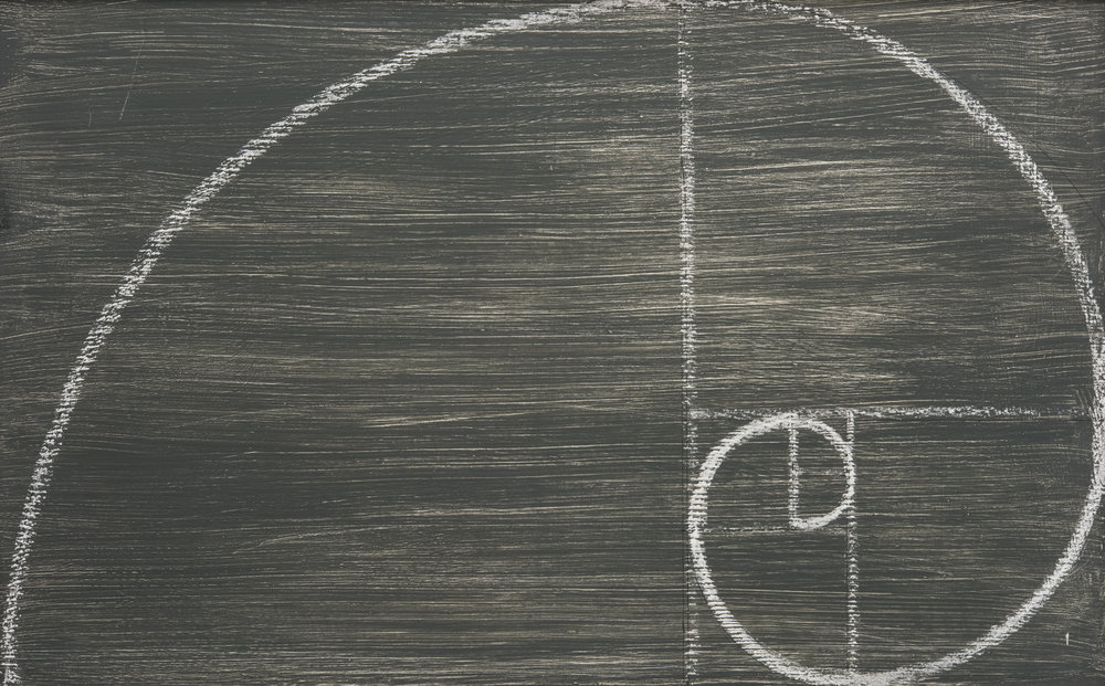 Spiral sequence shown in chalk on board