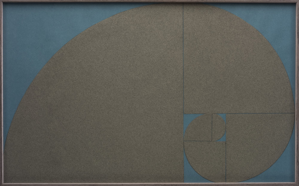 Cut paper version of Fibonacci's spiral