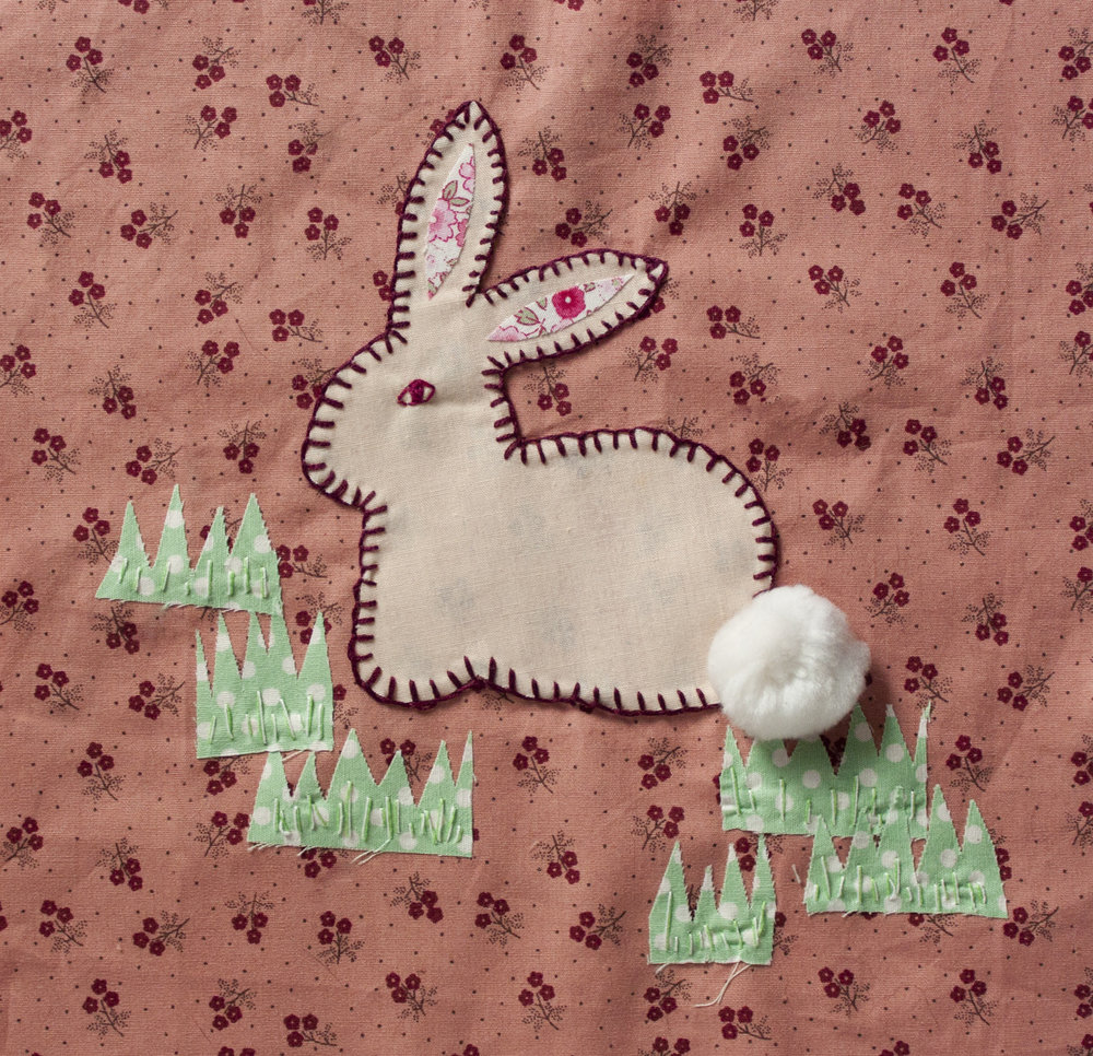 Rabbit Quilt Square The Crafty Hen.jpg