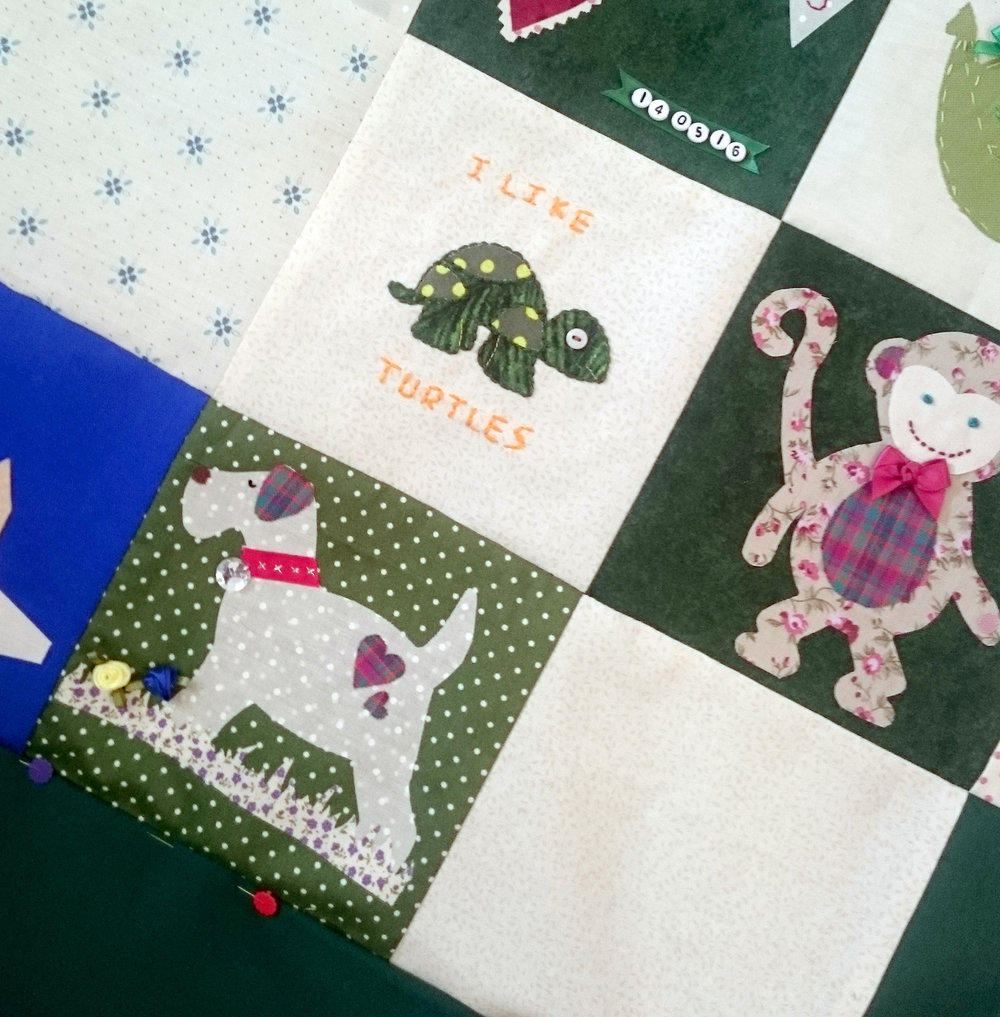 MONKEY BABY QUILT SHOWER WORKSHOP THE CRAFTY HEN.JPG