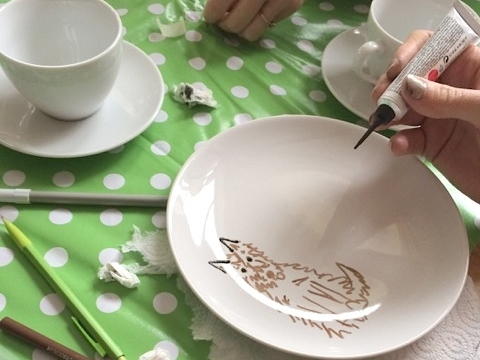 BABY SHOWER POTTERY PAINTING WORKSHOP COTSWOLDS