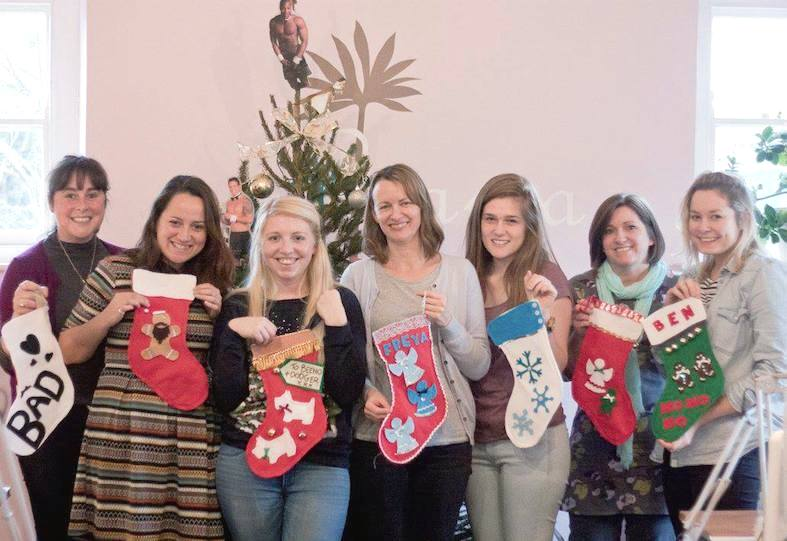 Make Christmas stockings workshop The Crafty Hen