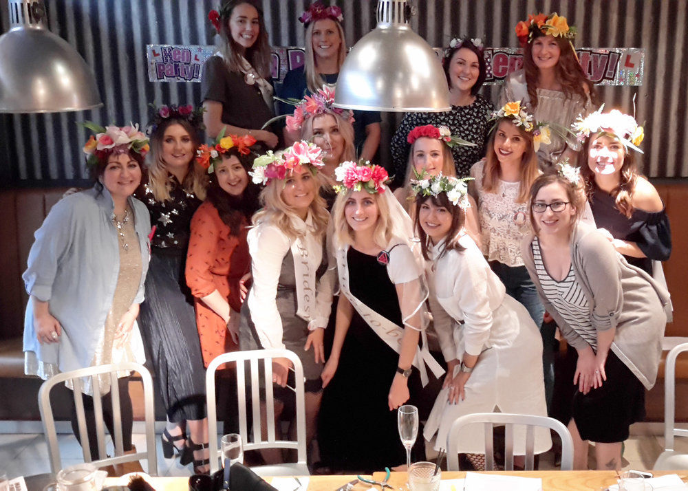 Flower Crown Craft Hen Party Manchester