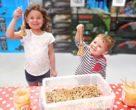 B&Q Kids Craft Workshop Hemel Hempstead Bird Feeders