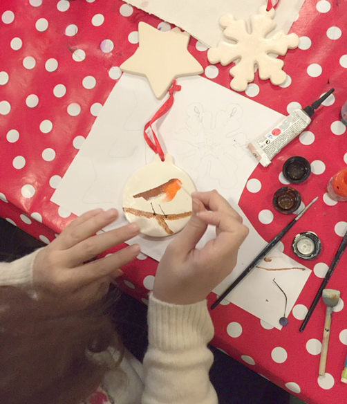 Christmas Ceramic Decoration Painting Workshop The Crafty Hen