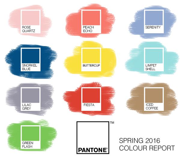 Pantone Colours Of 2016