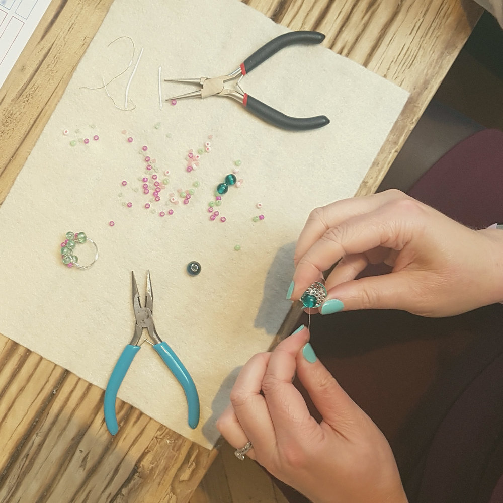 jewellery making team building activity