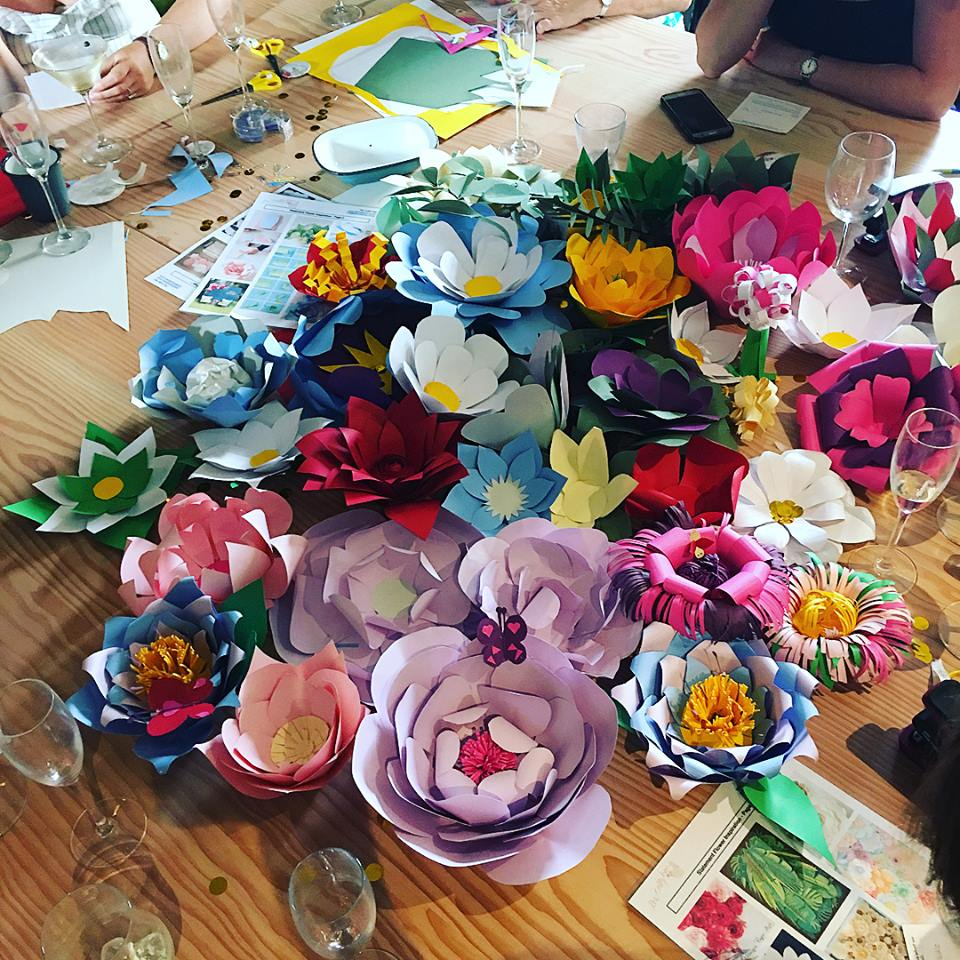 How to make giant paper flower wedding backdrop