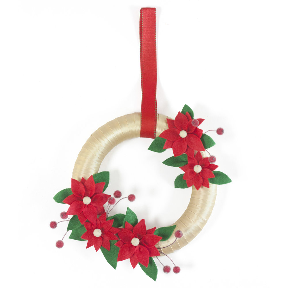 FELT RED poinsettia textile wreath workshop sq.jpg