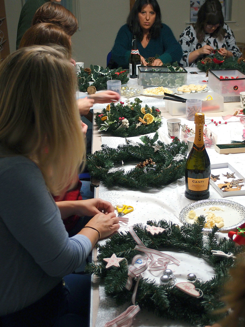 Christmas wreath workshop in store suffolk
