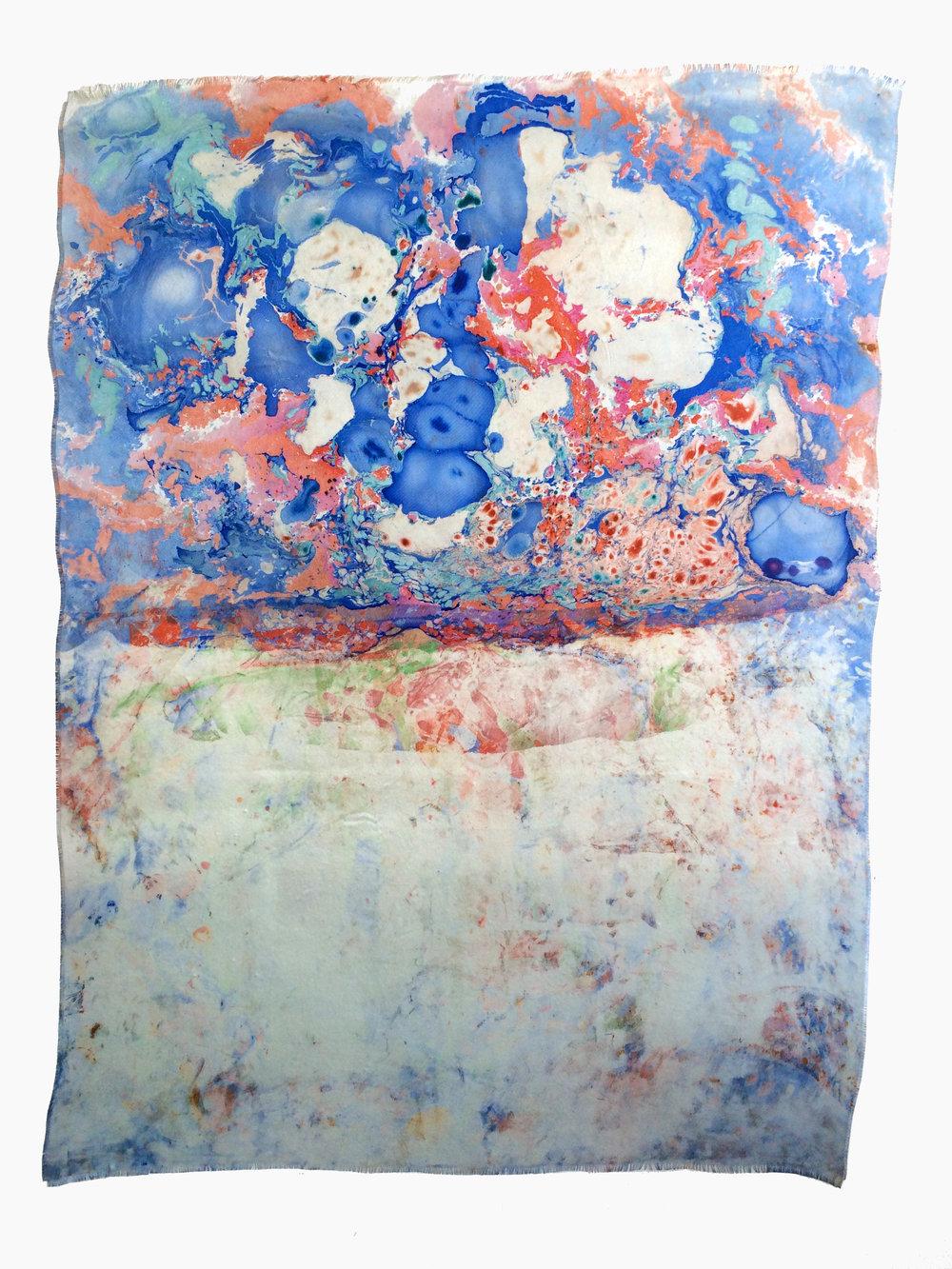 Marmorierung #1, 2016 Ölfarbe au Glasfasergewebe ca. 140 x 100 cm