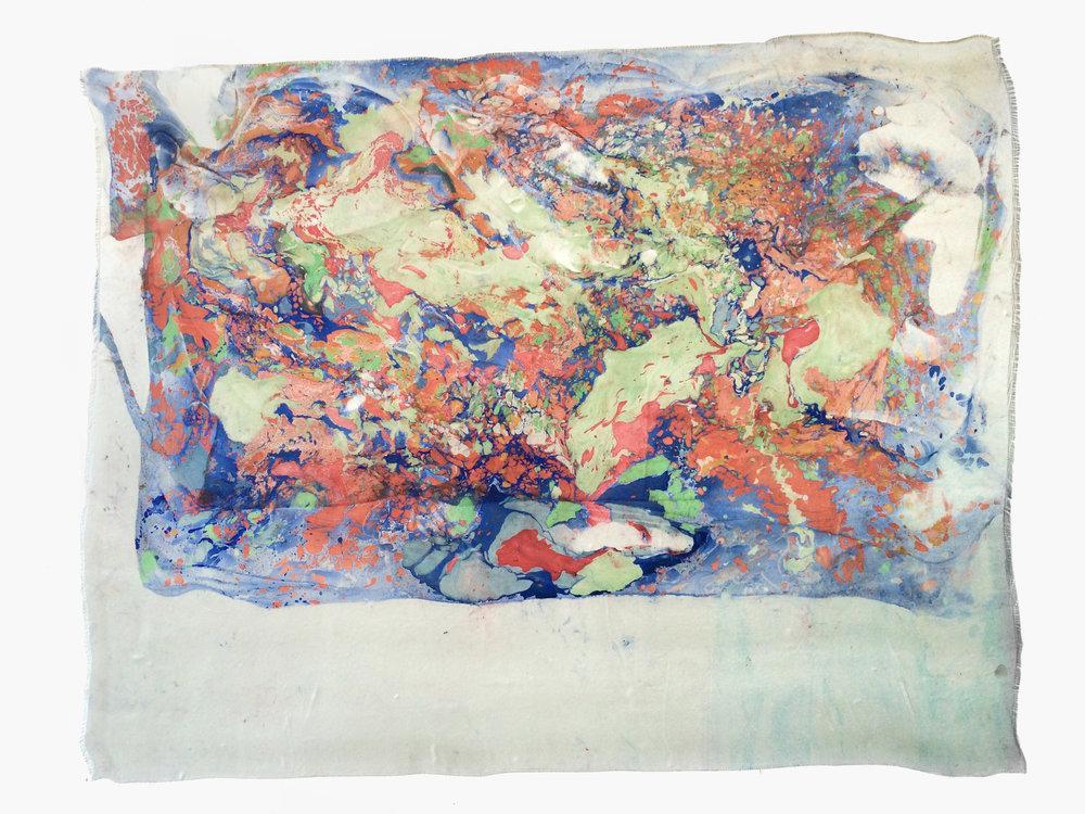 Marmorierung #2, 2016 Ölfarbe auf Glasfasergewebe ca. 140 x 100 cm