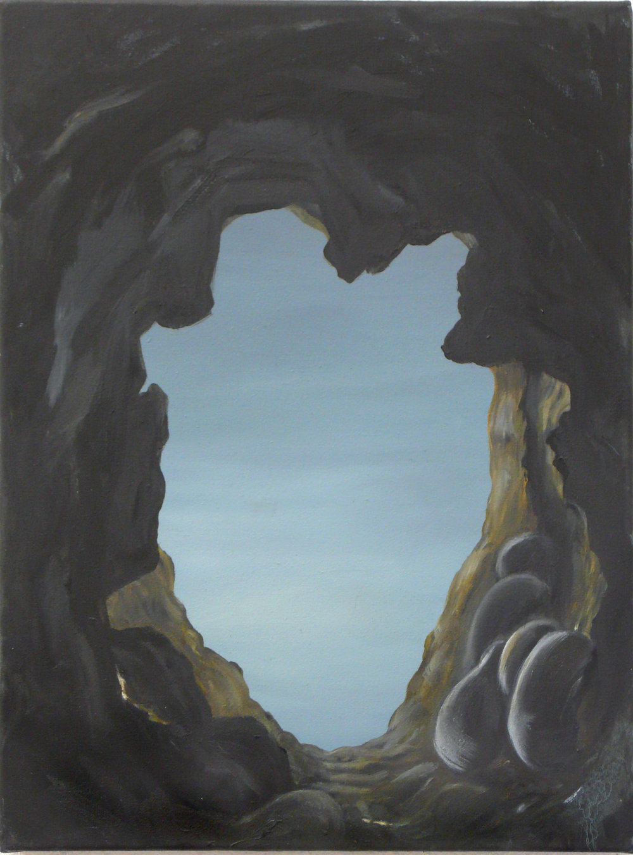 Das Loch, 2010 Öl auf Leinwand 40 x 30 cm
