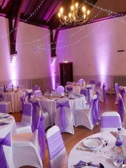 The Village Hall all ready for the guests