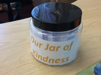 Shrewley's 'Jar of Kindness', which the children will read and celebtrate at the end of term!