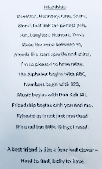 Lowsonford's 'Friendship Rap'..