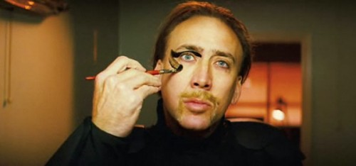Actual photo of me putting on liquid eyeliner.