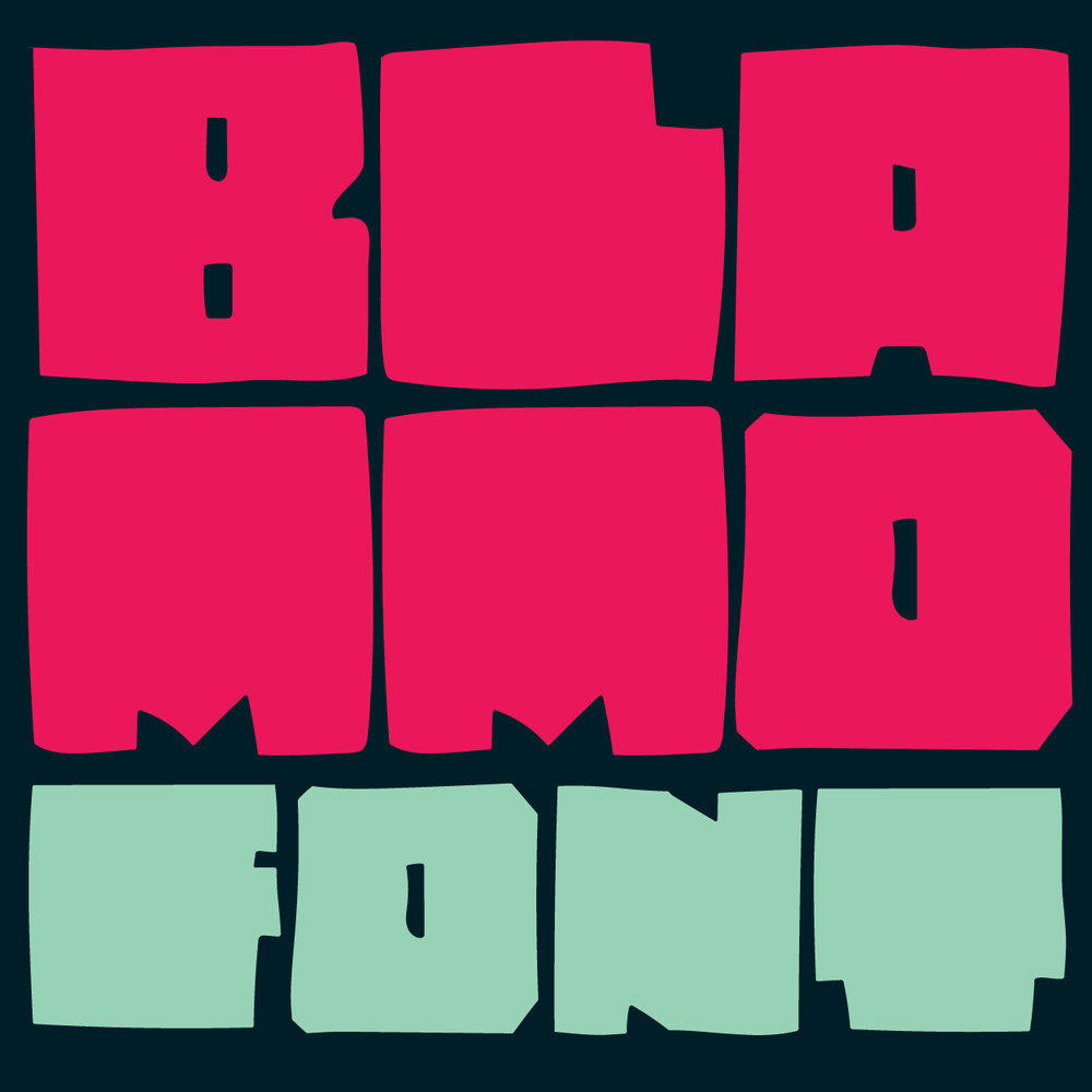BLAMMO - FONT Hand drawn chonky display block font.