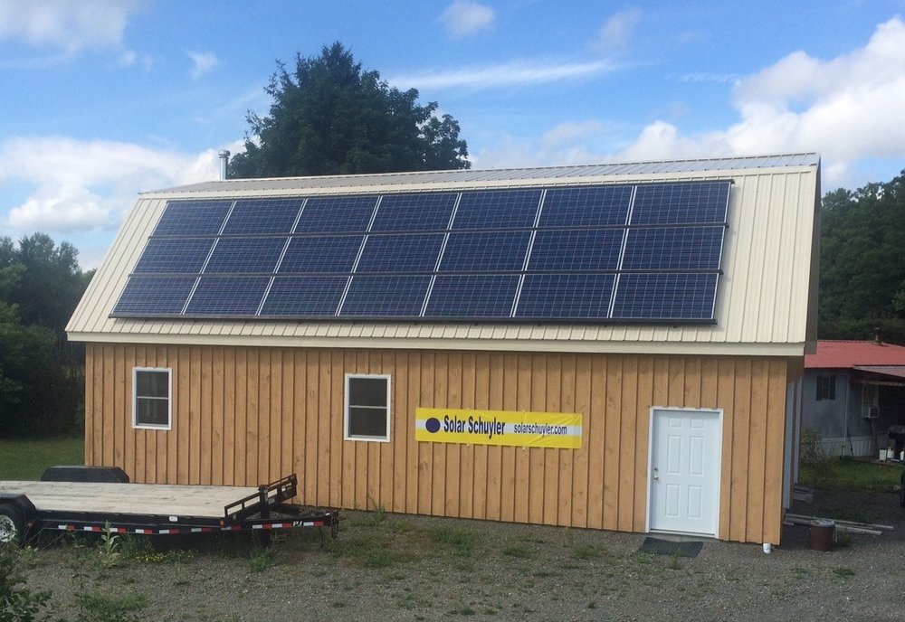 Solar Schuyler volunteer Seth Marks 5kW system installed in our 2015 campaign