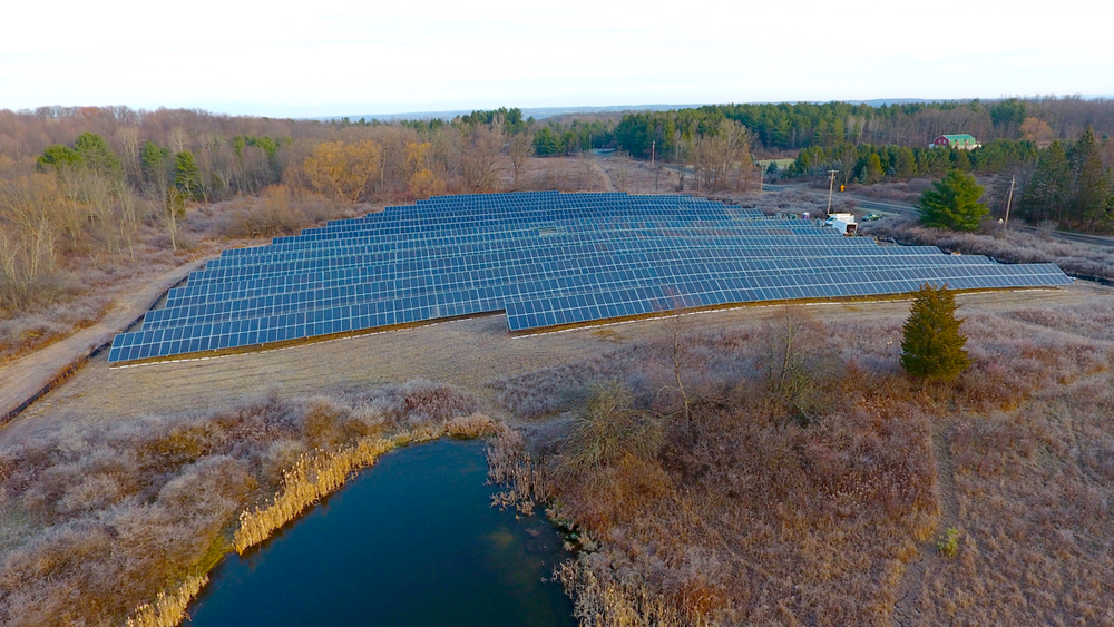 Renovus' Trumansburg Solar Farm - the first Community Solar farm in New York State.