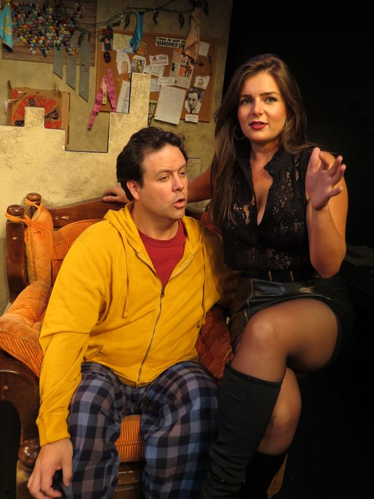 Jared Michael Delaney & Brittany Proia in Mad Love at the New Jersey Repertory Theater   Photo credit: SuzAnne Barabas