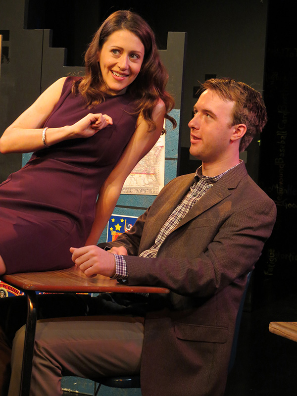 Alex Trow & Graham Techler in Mad Love at the New Jersey Repertory Theater   Photo credit: SuzAnne Barabas