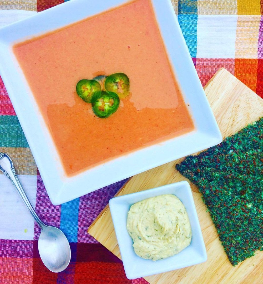 Inspired by Cat Cora's Tomato Soup  Recipe .