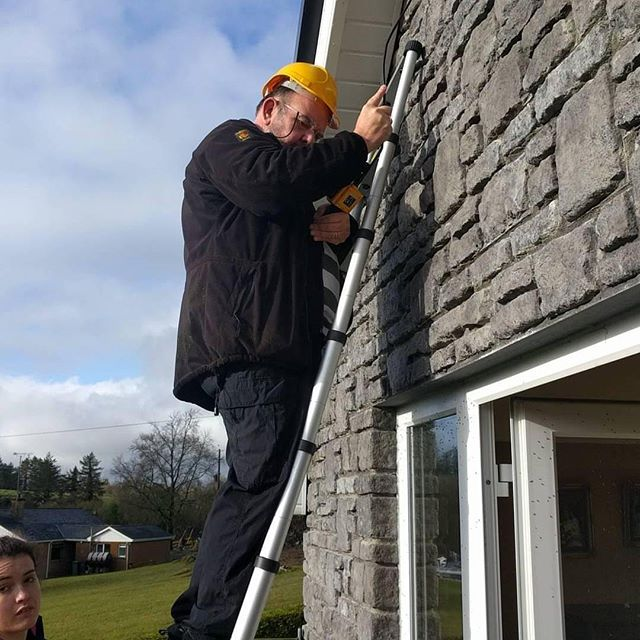 Dave checking a house in Fermanagh for hibernating bats.