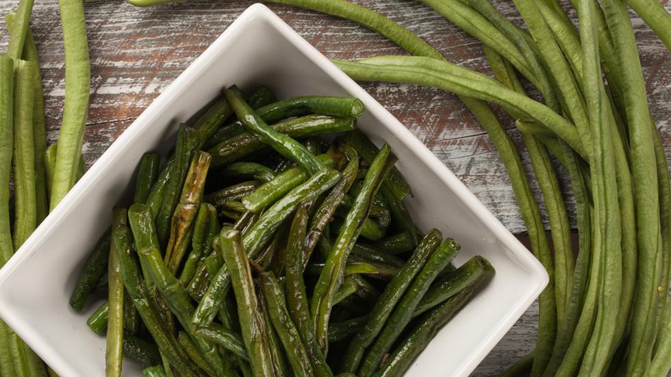 Garlic-Miso Blistered Long Beans
