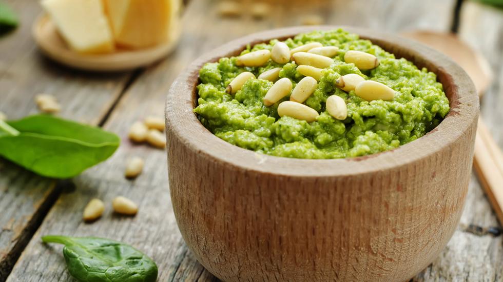 Broccoli-Spinach Pesto